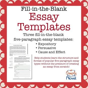 002 Expository, Persuasive, Cause/Effect FillintheBlank