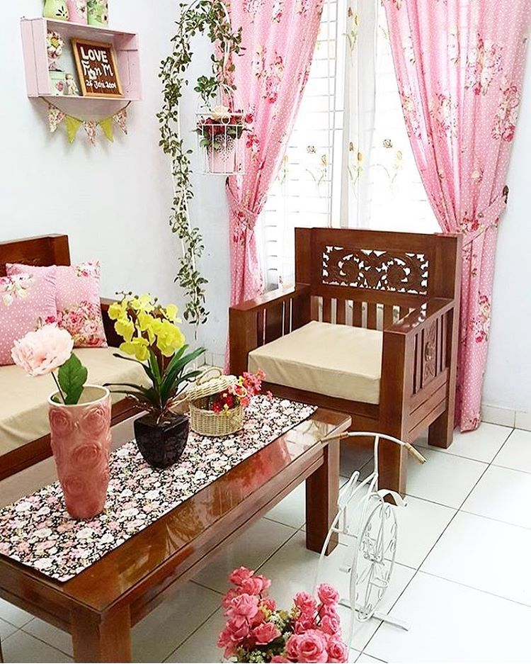 Desain Ruang Tamu Minimalis Tanpa Sofa Shabby Chic