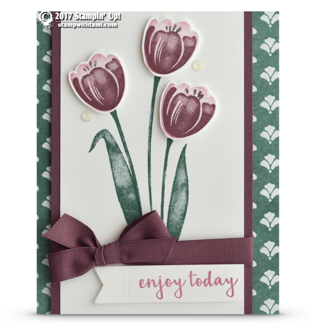 CARD: Enjoy Today from Tranquil Tulips Card