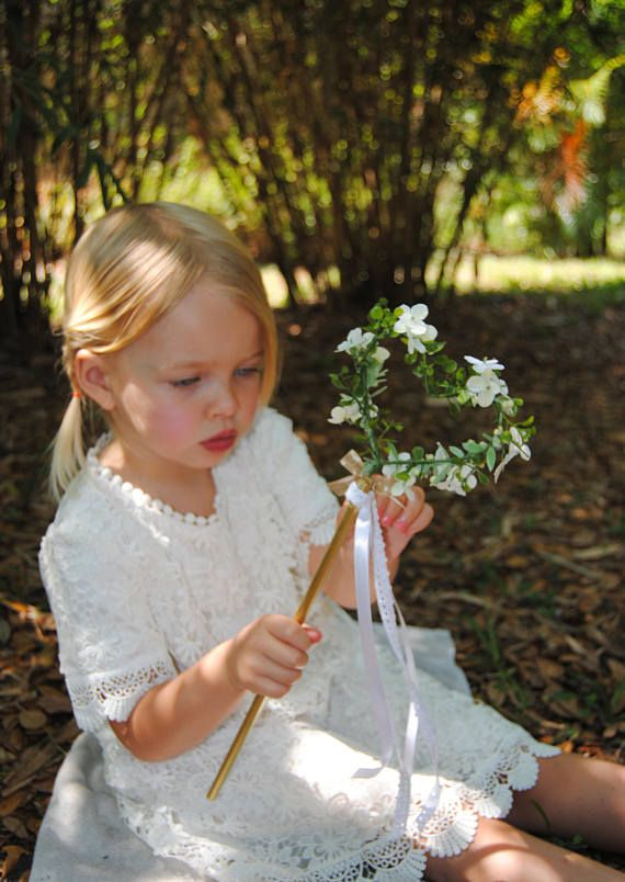 d7bb781e4ef1b This rustic heart wand is the perfect alternative accessory for your little  flower girl! The heart-shaped wand is decorated with artificial seeded  boxwood ...