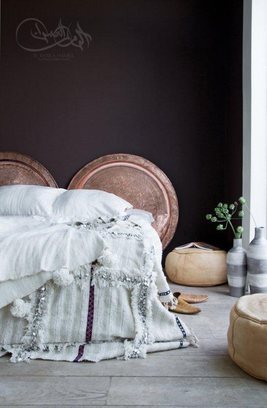 Dark Moroccan Inspired Bedroom   Home Decor     Omigosh Look At That  Spread!!!