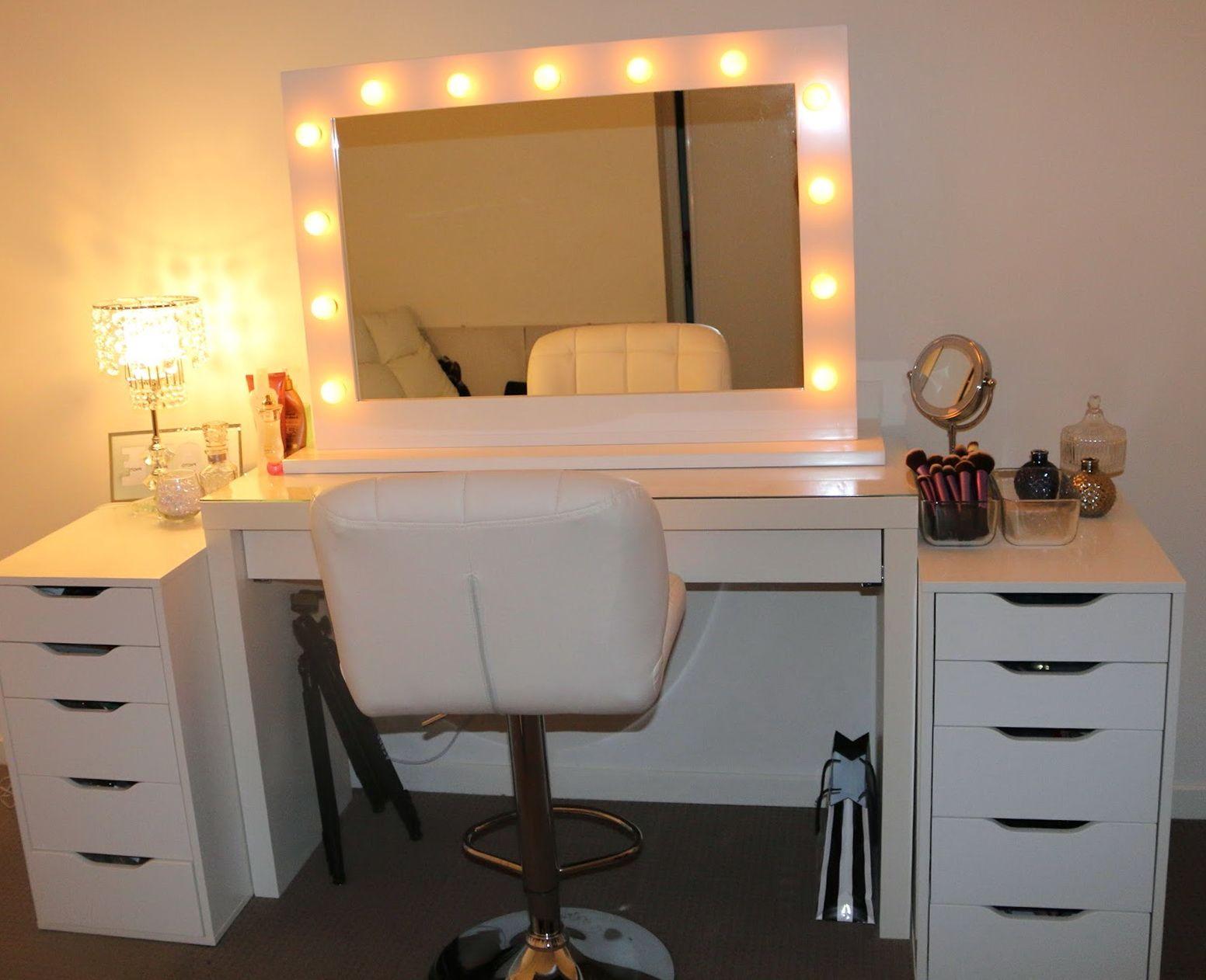Bedroom : Awesome Makeup Vanity Set Ikea Vanity Mirror With Lights Ikea' Makeup  Vanity Table' Makeup Tables and Bedrooms - Modern Makeup Vanity - Google Search Make Up Pinterest
