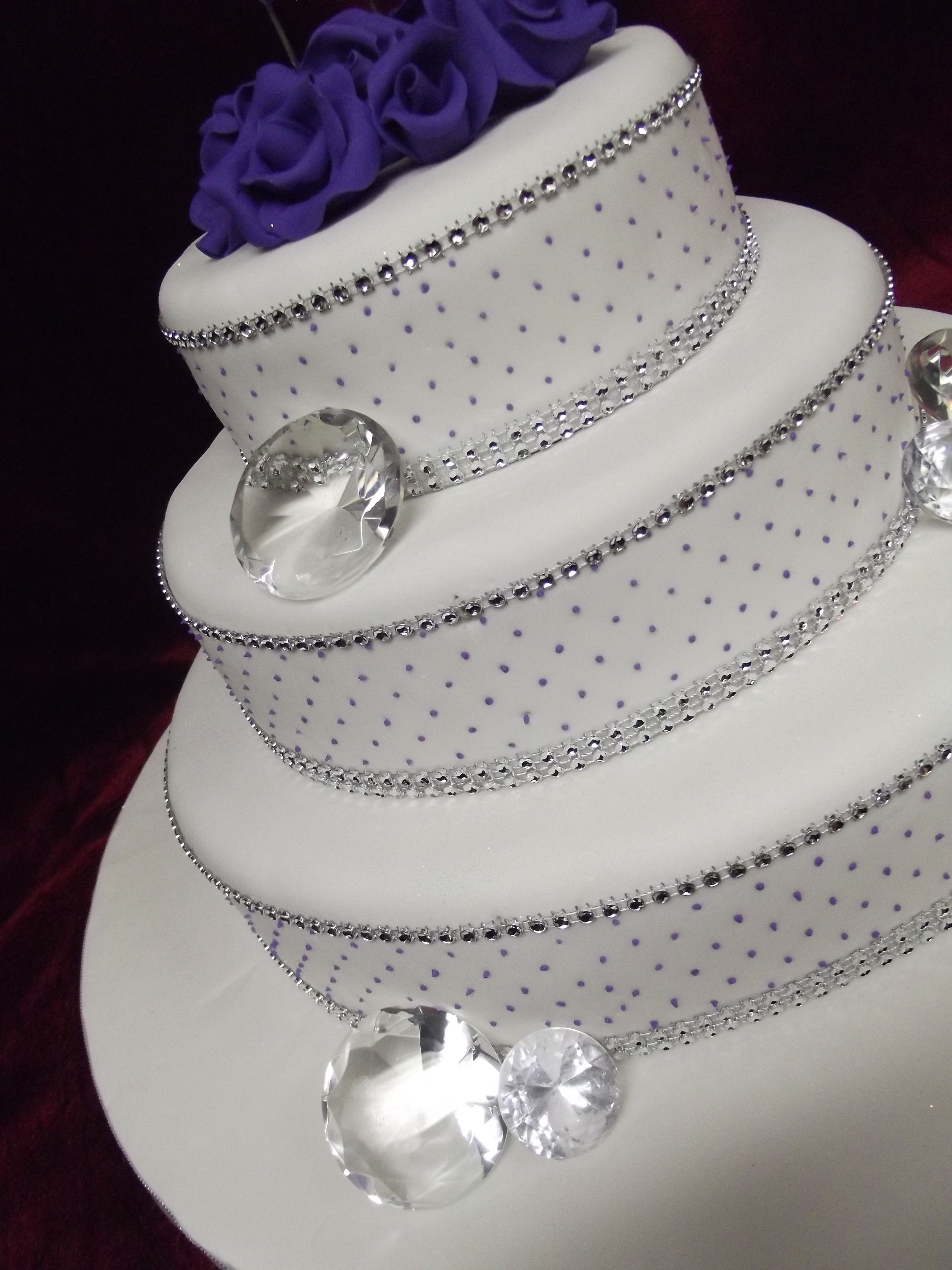 Diamond Themed Wedding Cake For Aria Frescofoods Email