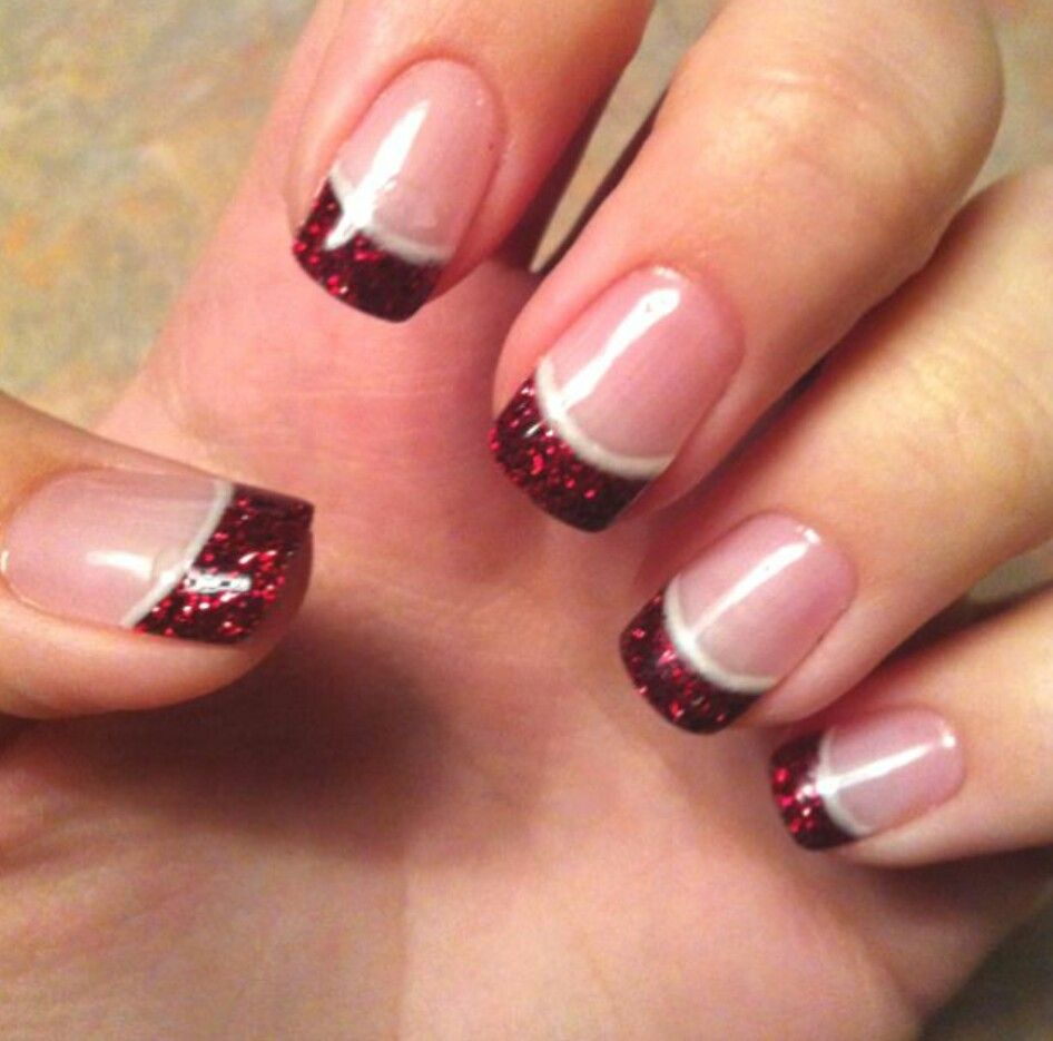 Red and white christmas | Christmas Nails | Pinterest | Makeup ...