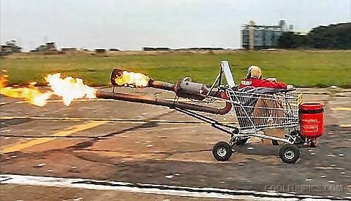 funny shopping trolley