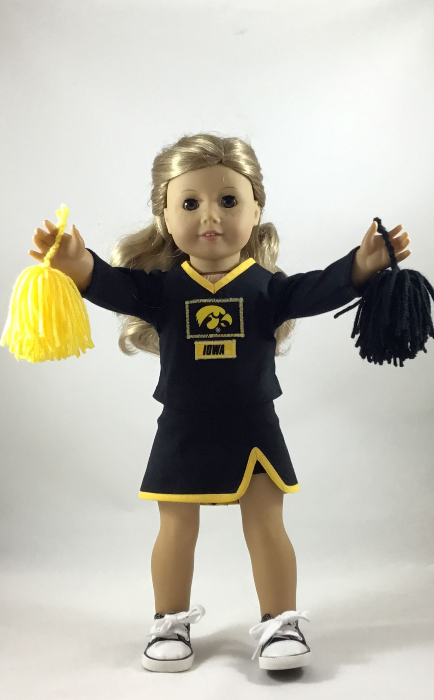 Iowa Hawkeye Cheerleading Uniform made to fit 18 dolls #18inchcheerleaderclothes Iowa Hawkeye Cheerleading Uniform made to fit 18 dolls by ILuvmCreations on Etsy #18inchcheerleaderclothes