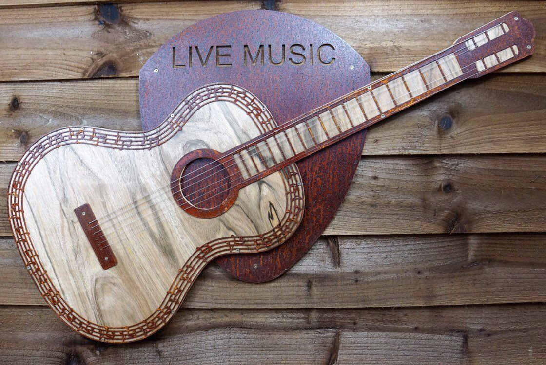 Excited To Share This Item From My Etsy Shop Acoustic Guitar Metal Wall Art Acoustic Guitar Decor Metal Acousti Guitar Wall Art Guitar Wall Metal Wall Art