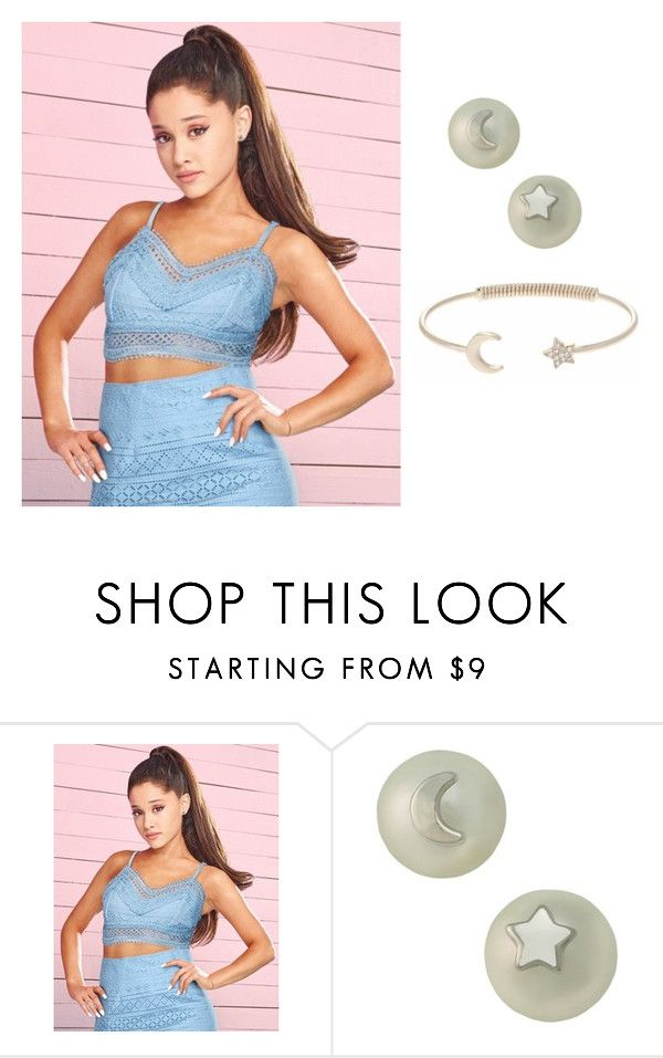 """star and moon bracelet and studs"" by aglookbook ❤ liked on Polyvore featuring Lipsy"