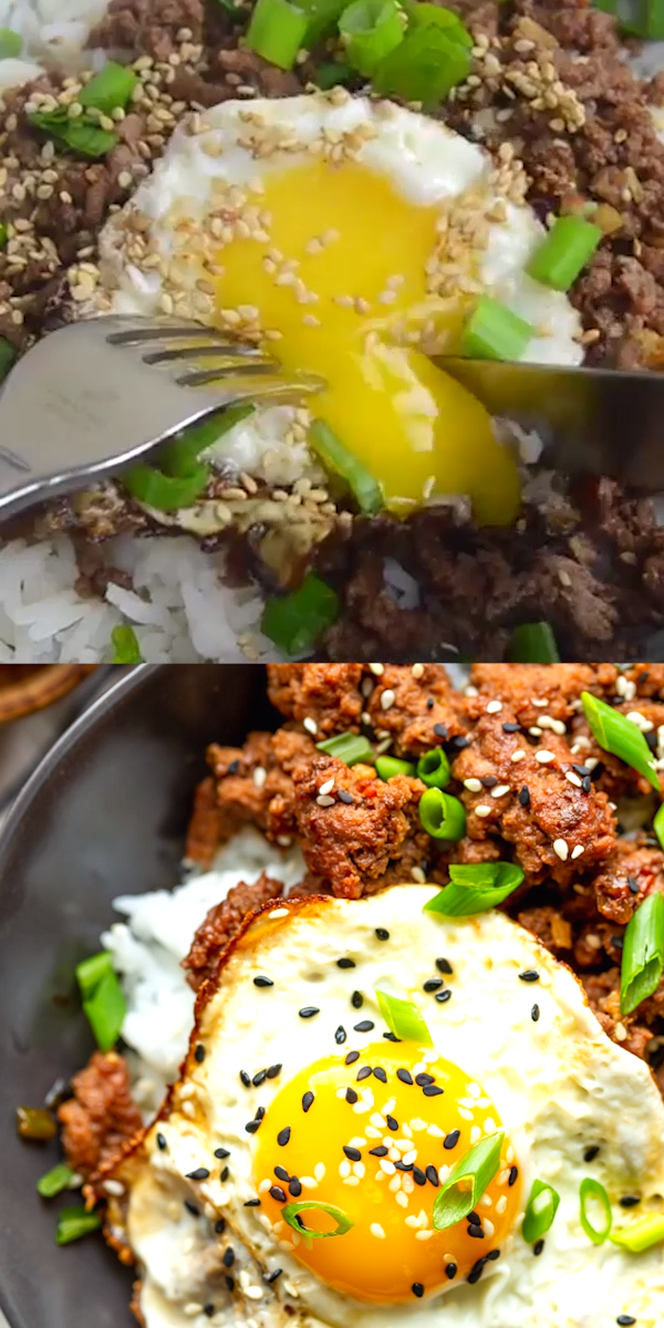 Korean Ground Beef Bowls Video Recipe Video Quick Ground Beef Recipes Ground Beef Recipes Korean Ground Beef