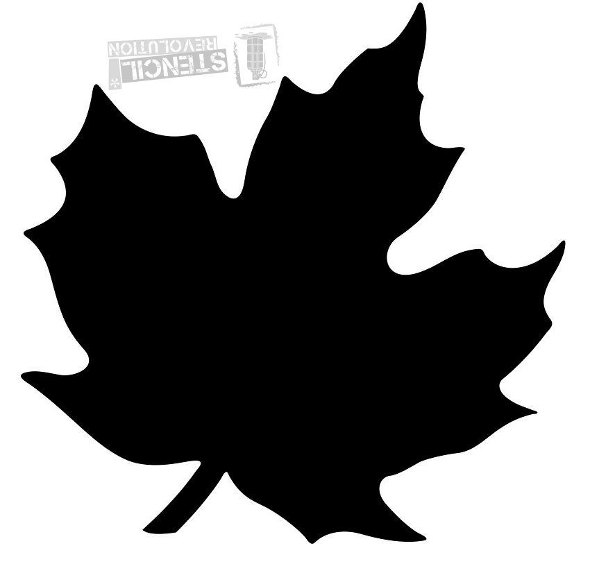 Maple leaf stencils on stencil revolution