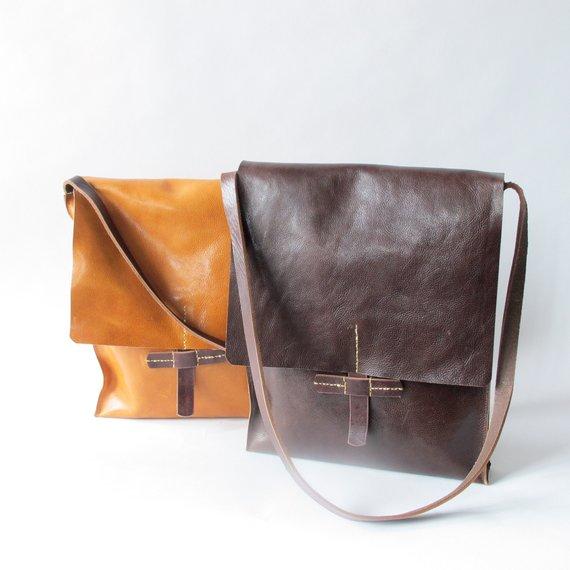 3fd633d864de Cross body leather messenger bag natural leather case for men ...