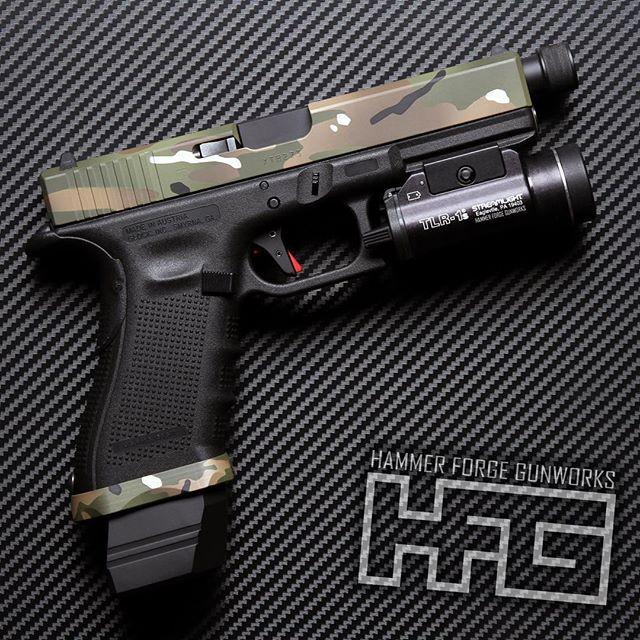 Glock 17 Gen 4 In Multicam Cerakote Slide Cuts Mod K Armory