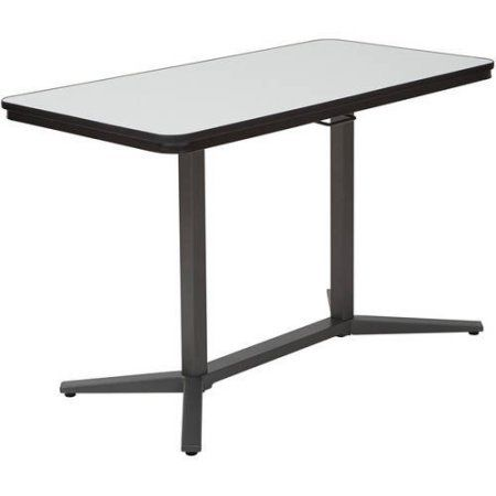 Office Star Pneumatic Height Adjustable Table with White Dry-Erase Table Top, Multiple Colors, Beige