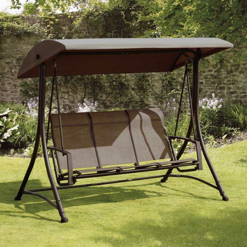 Suntime Havana Bronze 3 Seat Garden Swing | Patio | Pinterest