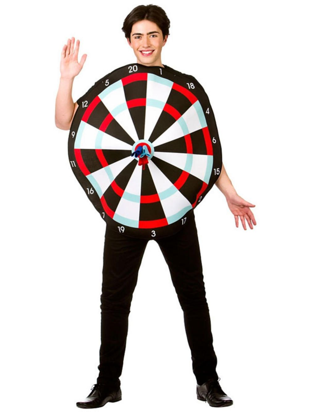 Adult Dart Board Game Costume & Novelty Darts New Fancy Dress Stag ...
