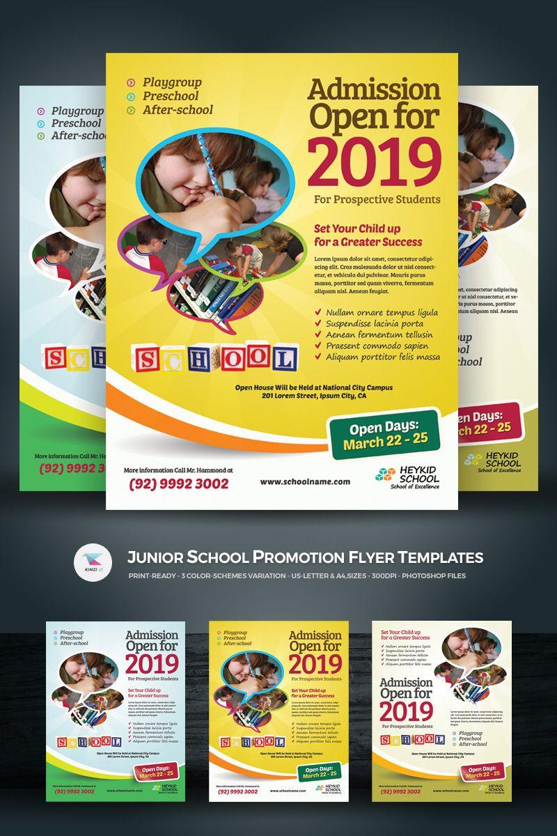 junior school promotion flyer psd template design bundle flyer
