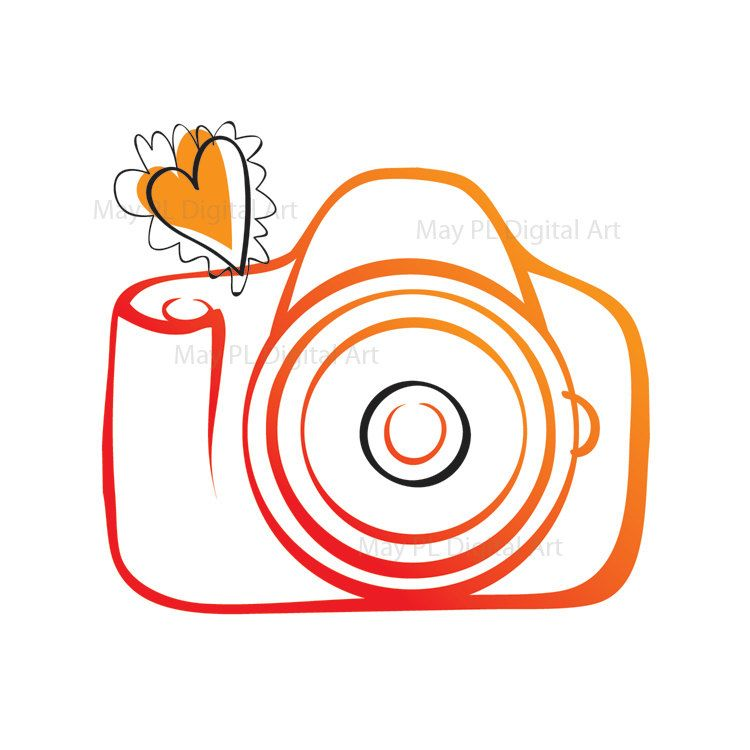 Camera Digital VECTOR Clipart DIY Photographer Photography ...