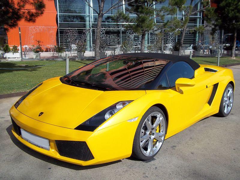 New Car Avalaible In Barcelona Lamborghini Gallardo Spider Colour Yellow Luxury Car Hire Lamborghini Gallardo Car