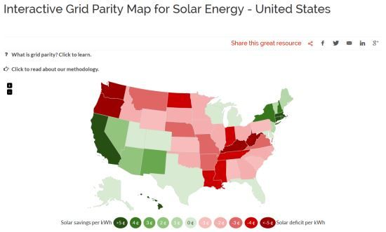 Top 10 Places To Go Solar In The United States Renewable Energy Mother Earth News Solar Energy Solar Energy