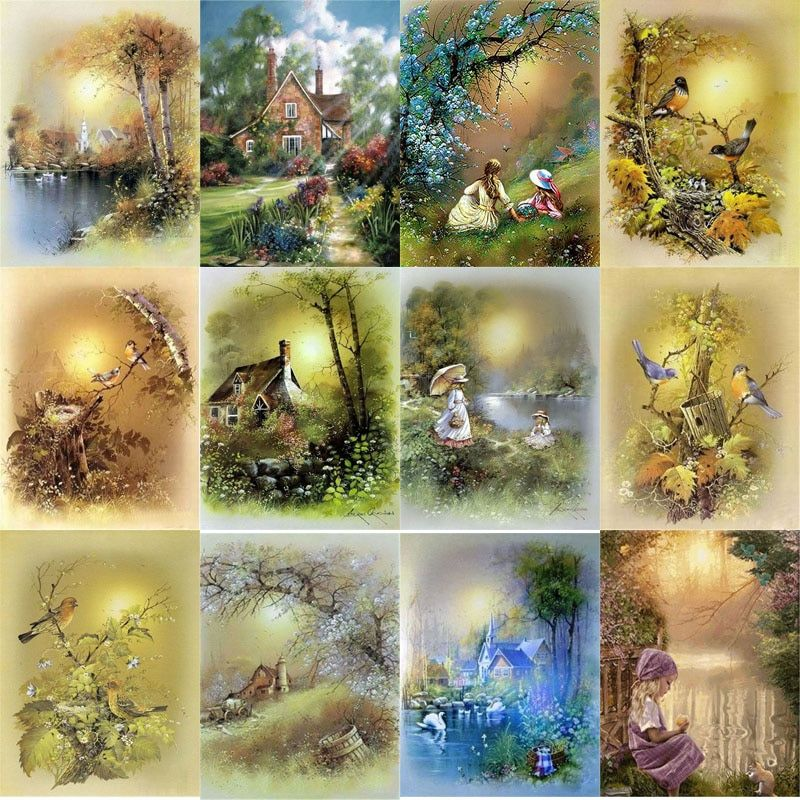UN3F Diamond Painting Kits Seabed Game Full Round Drill Picture Handicrafts Art