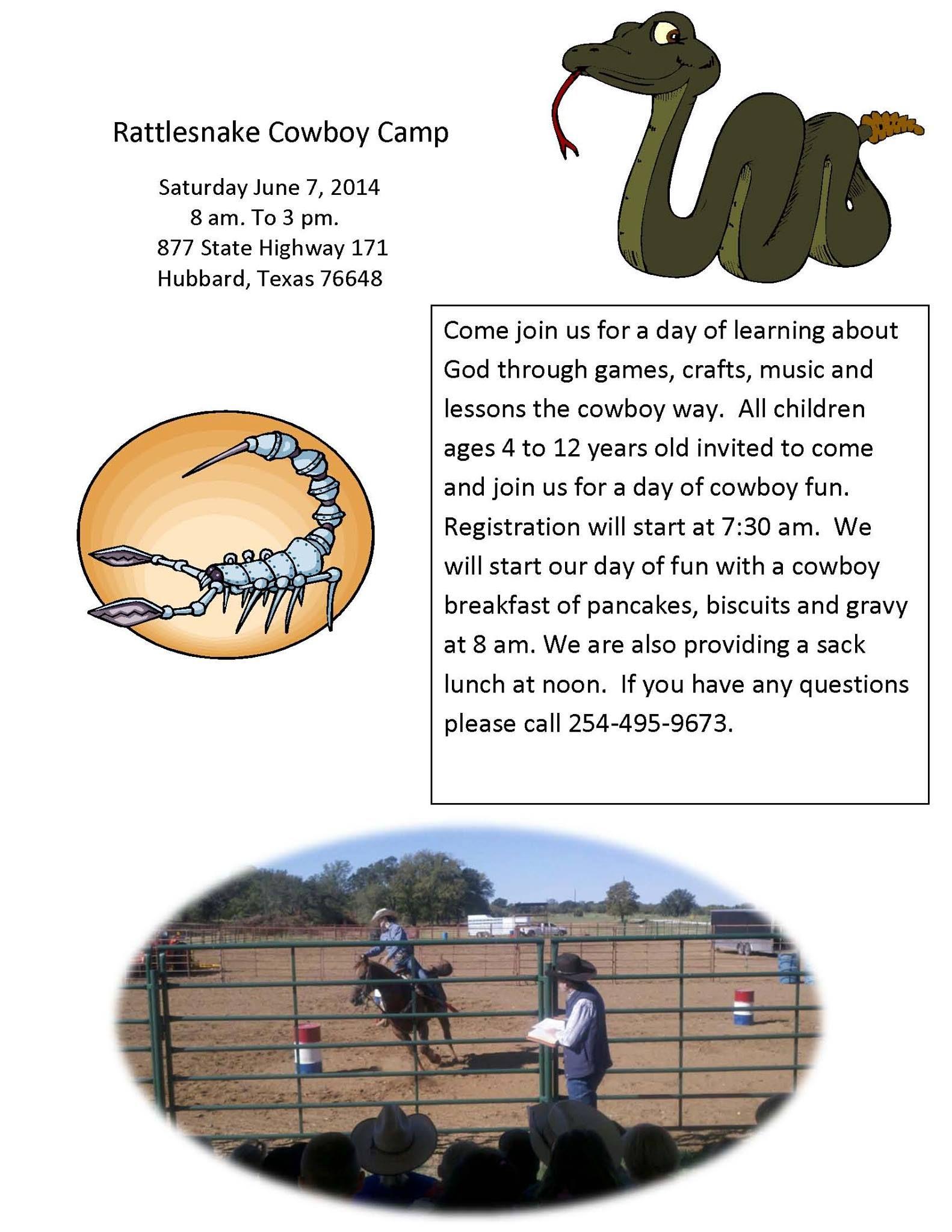 Rattlesnake Cowboy Kids Camp Bbard Tx
