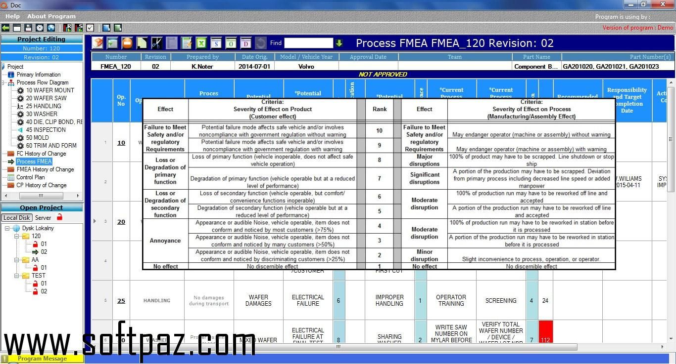 Download Qdoc  Processflow Fmea Control Plan Setup At Breakneck