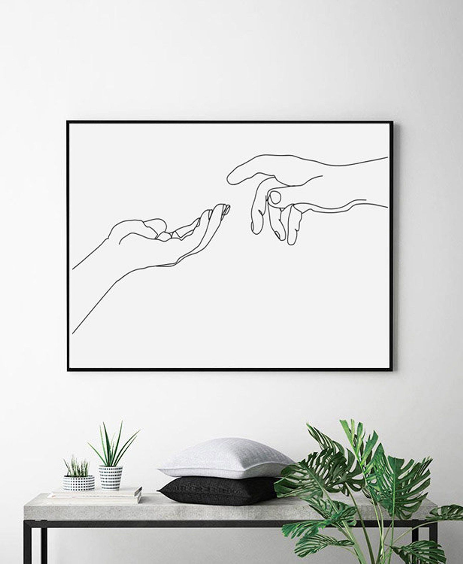 Hands Line Art Woman Room Decor Minimal Poster Printable Wall Etsy Line Drawing Dorm Art Printable Wall Art