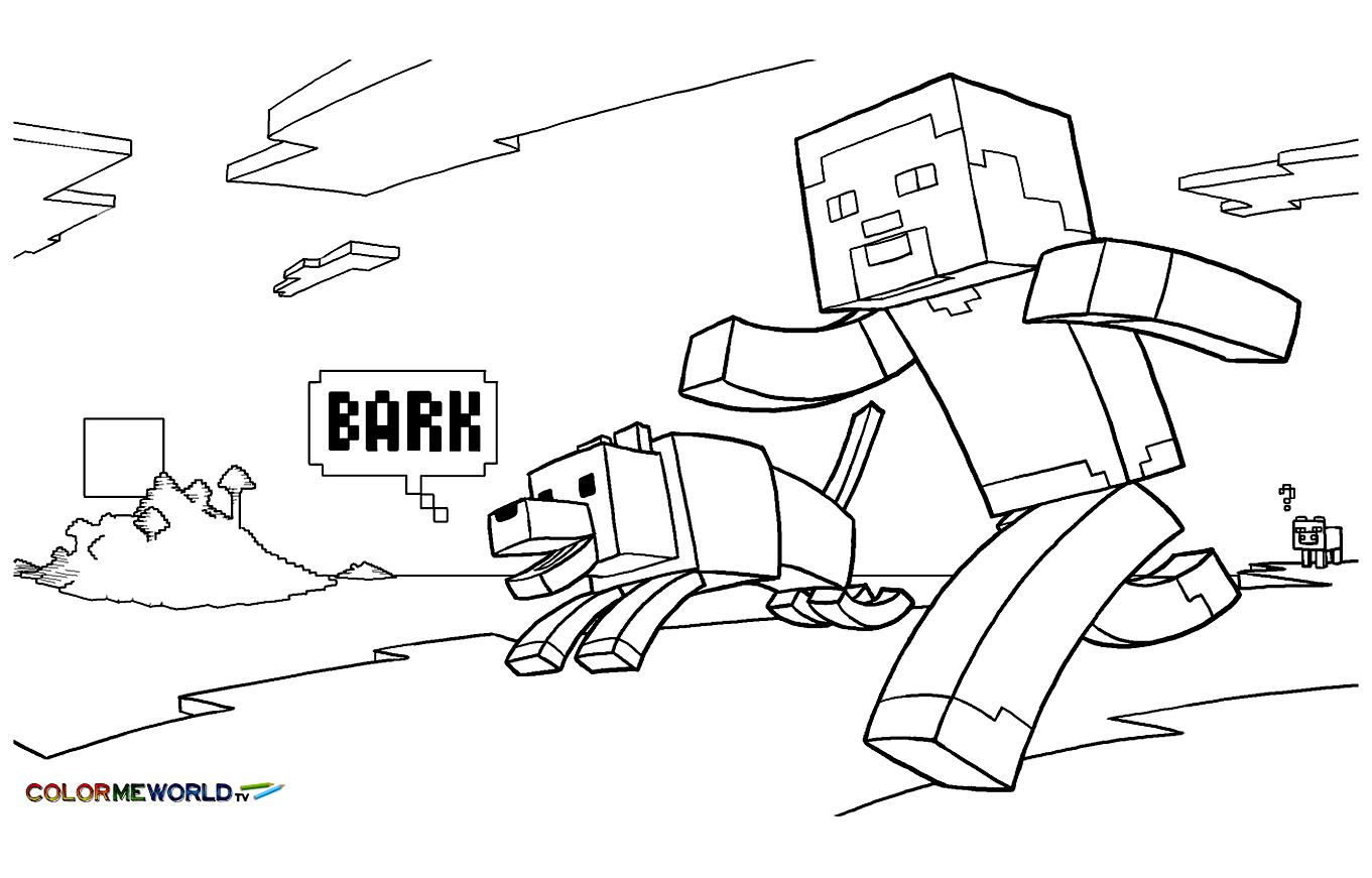 Minecraft coloring page | coloring book | Pinterest