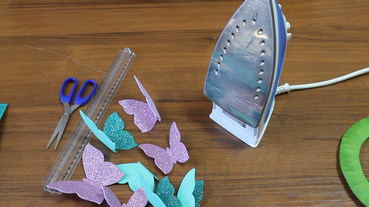 Foam Sheet Craft Ideas Wall Hanging Craft Ideas Butterfly Diy Glitter Foam Sheet Craft Foamy Foam Sheet Crafts Butterfly Wall Decor Diy Wall Hanging Crafts