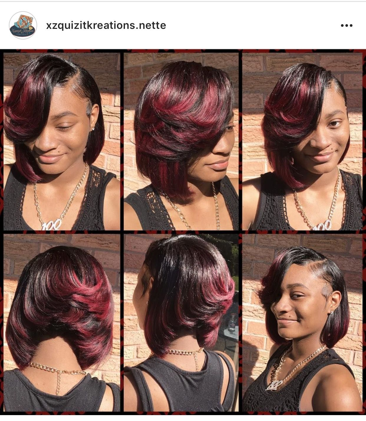 Quick weave bob styled by me instagram xzquizitkreationste