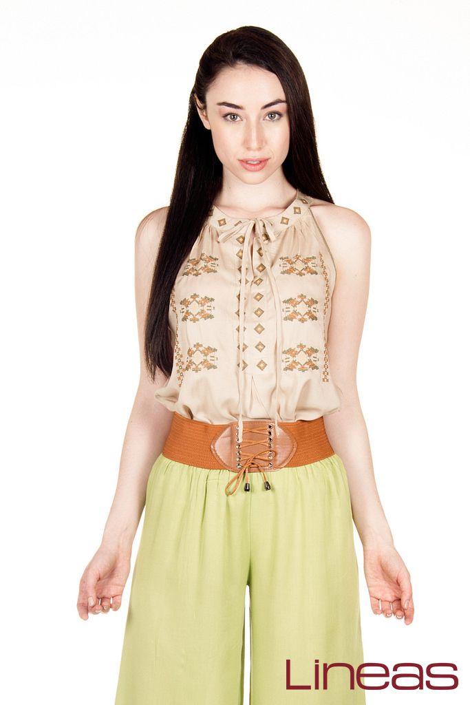 Blusa. Modelo 17875. Precio $180 MXN. Pantalón. Modelo 18545. Precio $150 MXN. #Lineas #outfit #moda #tendencias #2014 #ropa #prendas #estilo #moda #primavera #outfits
