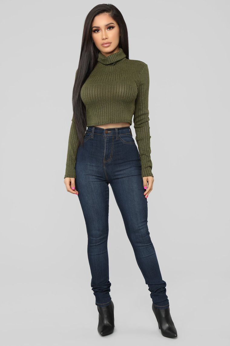 Party In The Back Top  Olive is part of Party Clothes Casual -  Available In Black And Olive Turtleneck Long Sleeve Lace Up Back Detail Ribbed 96% Polyester 4% Spandex Made In USA