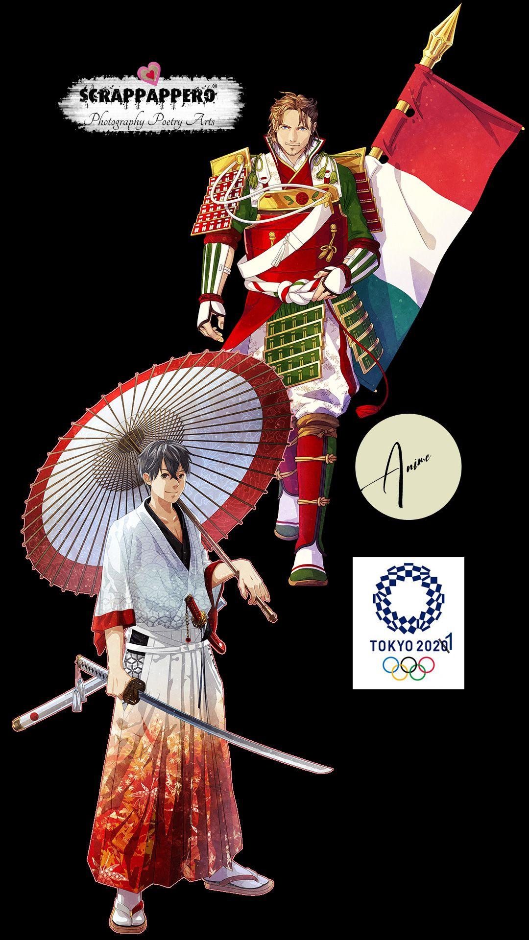 Illustrazioni Anime per le olimpiadi di Tokyo 2021 nel