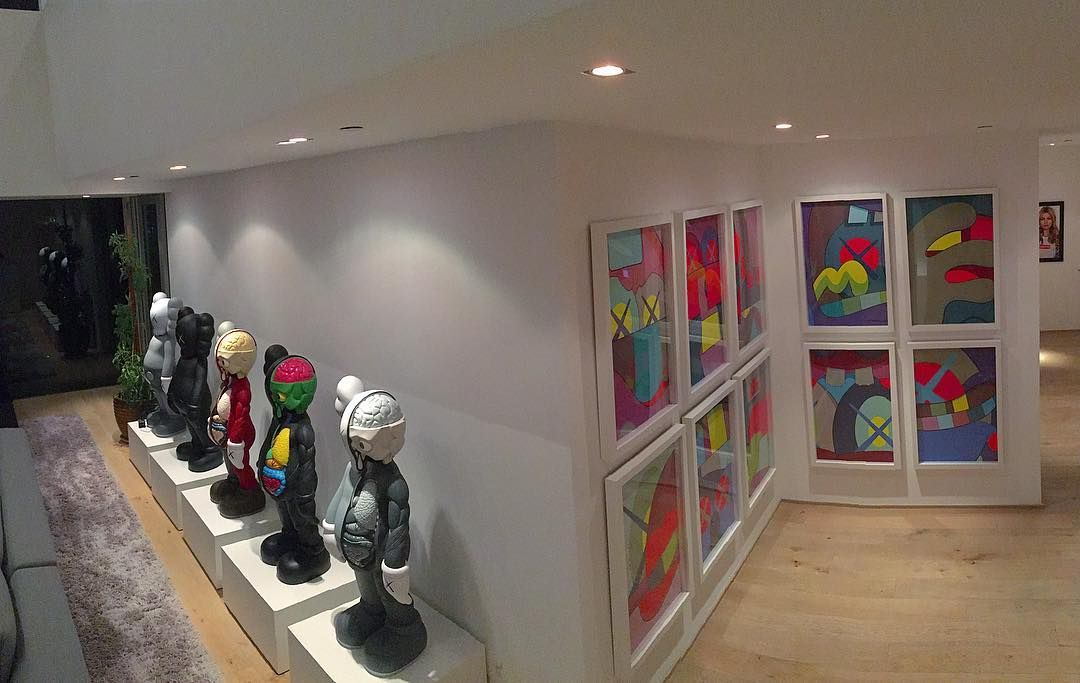 Finally got around to hanging the @kaws Ups & Downs set at the house.  #kaws by nickydiamonds