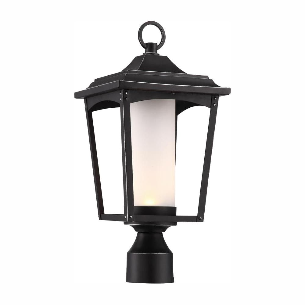 Burled Walnut Acclaim 5171BW//SD Chateau Collection 3-Light Post Mount Outdoor Light Fixture