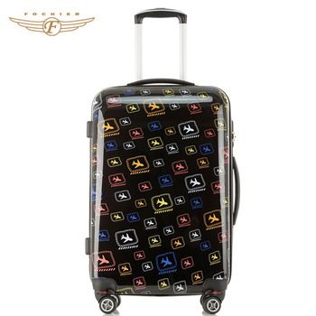 20 Inch Fashion Printed Travel Luggage Bags Cases Trolley Trolley Bags Suitcase Luggage Rolling Suitcases