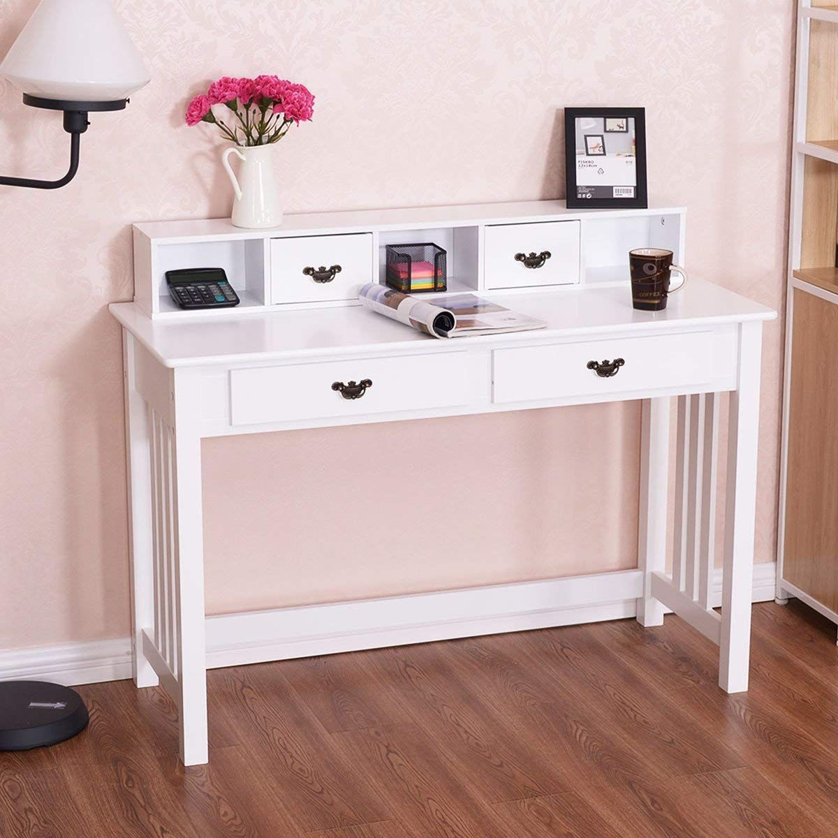 Writing Desk Mission White Home Office Computer Desk 4 ...