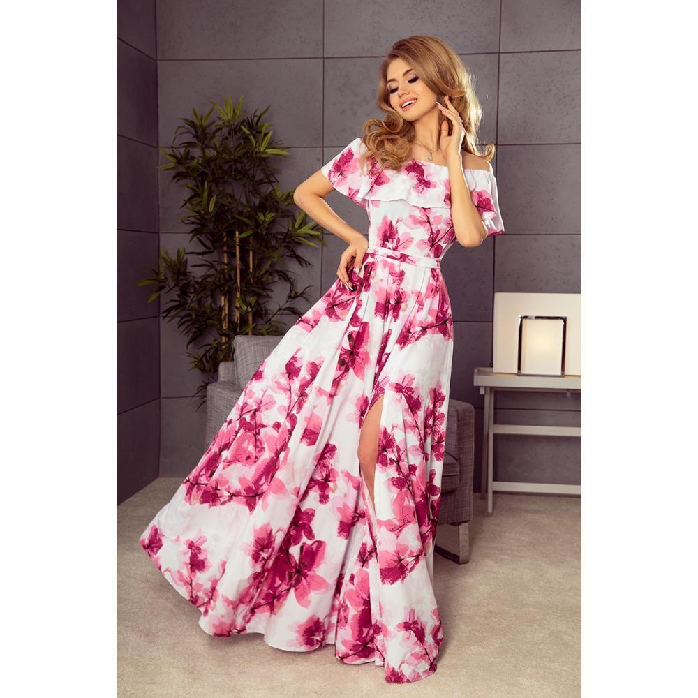 Long dress numoco open shoulders womenus clothes online