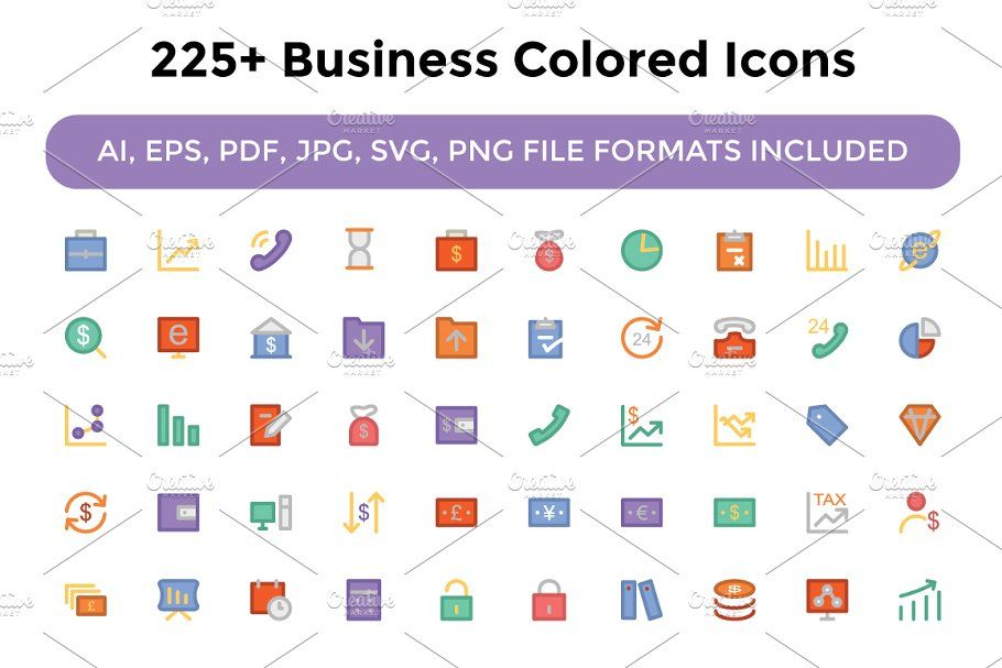 225 Business Colored Icons Business Icons Colored With Images