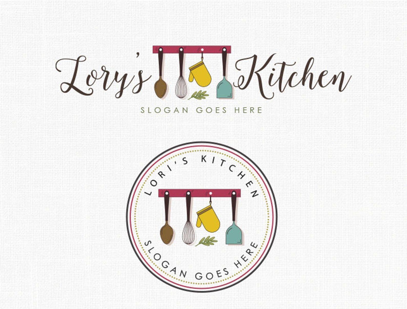 Kitchen Logo Design Bakery Logo Boutique Logo Design Stamp Logo in