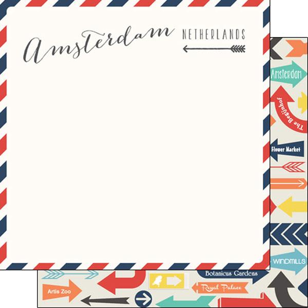 Scrapbook Customs Travel Adventure Amsterdam Memories Air Mail Arrows Paper Scrapbook Customs Custom Travel Travel Scrapbook