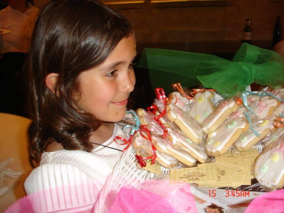 Teresa Cascón Conesa el día de su primera comunión.