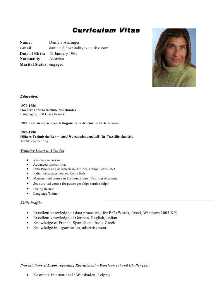 Curriculum Vitae English Template Free Resume Templates Curriculum Vitae Modelos De Curriculum Vitae Curriculum Ejemplo