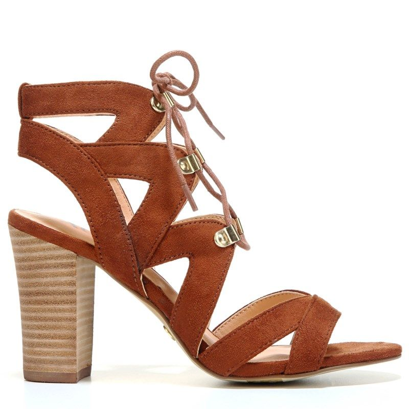 XOXO Women's Barnie Lace Up Sandals (Tan)