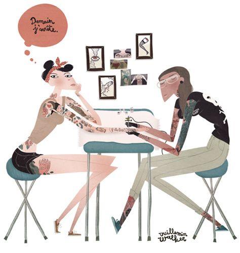 Tomorrow I quit... by Emmanuelle Walker, via Behance