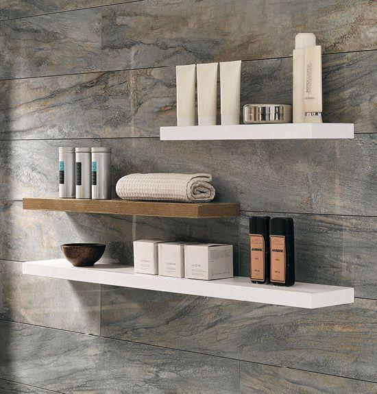 inspirant etagere murale salle de bain