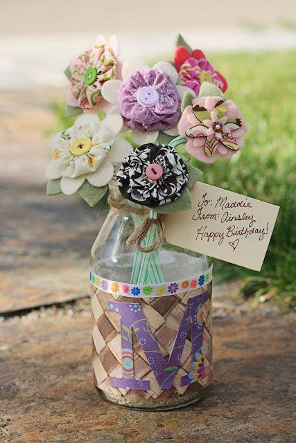 Flower Hair Clip Birthday Bouquet Idea