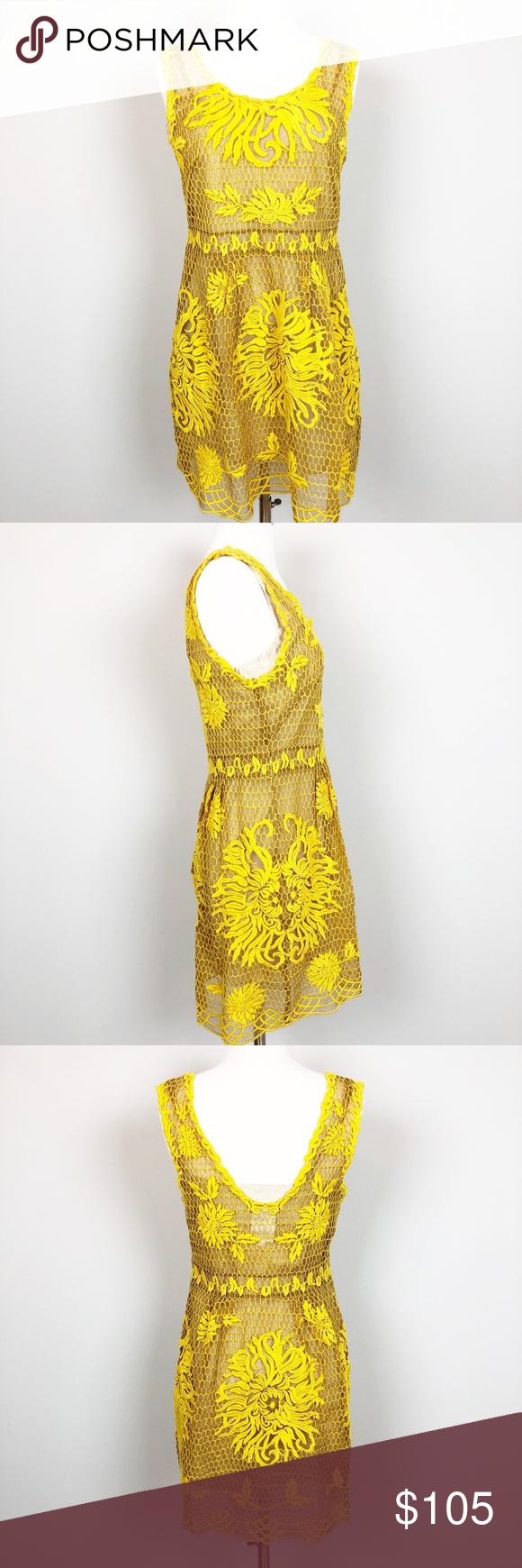 3927487f21a8 Yoana Baraschi Honeycomb Silk Midi Shealth Dress This is a gorgeous mustard yellow  Anthropologie midi lace sheath dress, Yoana Baraschi Honeycomb Yellow ...