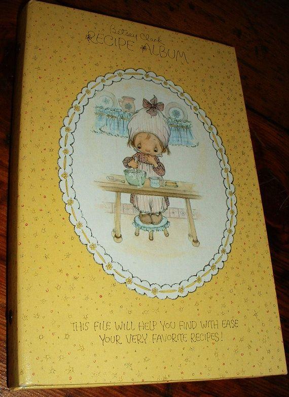hallmark betsey clark recipe album book file with cards