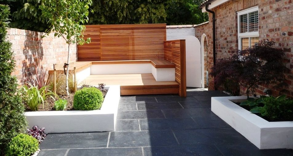inspiring small modern private backyard garden for contemporary - Private Patio Ideas
